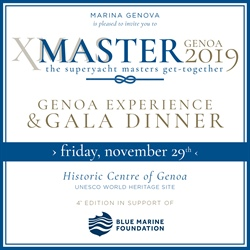 Il 29 novembre torna a Genova XMASter - The superyacht masters get-together