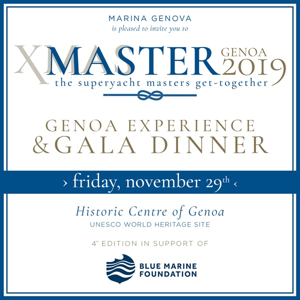 MARINA GENOVA: BACK IN GENOA ON 29 NOVEMBER  XMASTER - THE SUPERYACHT MASTERS GET-TOGETHER