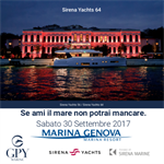 Exposition Sirena Marine at Marina Genova Saturday September 30th